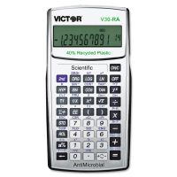 Victor V30RA Scientific Recycled Calculator w/Antimicrobial Protection VCTV30RA