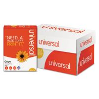 Universal Copy Paper, 92 Brightness, 20 lb, 8 1/2 x 11, White, 5000 Sheets/Carton UNV21200