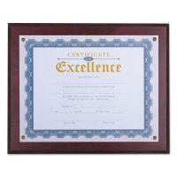 "Universal Award Plaque, 13 1/3"" x 11"", Mahogany UNV76825"