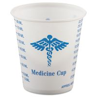 Dart Paper Medical & Dental Graduated Cups, 3oz, White/Blue, 100/Bag, 50 Bags/Carton SCCR3