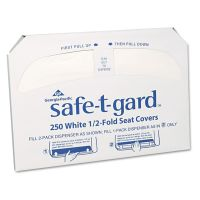 Georgia Pacific Professional Half-Fold Toilet Seat Covers, White, 250/Pack, 20 Boxes/Carton GPC47046