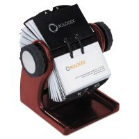 Rolodex Wood Tones Open Rotary Business Card File Holds 400 2 5/8 x 4 Cards, Mahogany ROL1734242