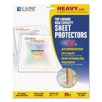 C-Line Top Loading High Capacity Polypropylene Sheet Protectors, Letter, Heavyweight, Clear, 25/Box CLI62020