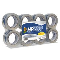 "Duck HP260 Packaging Tape, 1.88"" x 60yds, 3"" Core, Clear, 8/Pack DUC0007424"