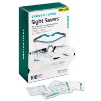 Bausch & Lomb Sight Savers Pre-Moistened Anti-Fog Tissues with Silicone, 100/Box BAL8576