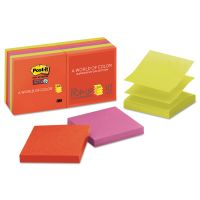 Post-it Pop-up Notes Super Sticky Pop-up 3 x 3 Note Refill, Marrakesh, 90 Notes/Pad, 10 Pads/Pack MMMR33010SSAN