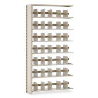 Tennsco Snap-Together Seven-Shelf Closed Add-On Unit, Steel, 48w x 12d x 88h, Sand TNN128848ACSD