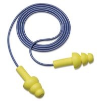 3M E·A·R UltraFit Earplugs, Corded, Premolded, Yellow, 100 Pairs MMM3404004