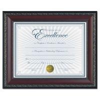 DAX World Class Document Frame w/Certificate, Walnut, 8 1/2 x 11 DAXN3245N2T