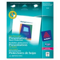Avery Top-Load Poly Sheet Protector, Letter, Super Heavy Gauge, Diamond Clear, 50/Box AVE74130