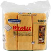 WypAll* Microfiber Cloths, Reusable, 15 3/4 x 15 3/4, Yellow, 6/Pack KCC83610