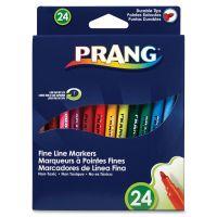 Dixon Prang Washable Markers, Fine Point, 24 Assorted Colors, 24/set DIX80715