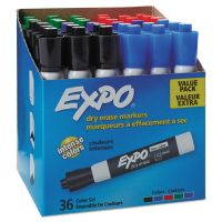 EXPO Low Odor Dry Erase Marker, Chisel Tip, Assorted, 36/Box SAN1921061