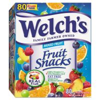 Welch's Fruit Snacks, 0.9 oz Pouch, 80/Box WEL884640