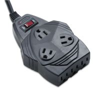 Fellowes Mighty 8 Surge Protector, 8 Outlets, 6 ft Cord, 1460 Joules, Black FEL99091