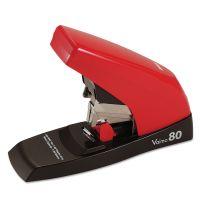 Max Vaimo 80 Heavy-Duty Flat-Clinch Stapler, 80-Sheet Capacity, Red/Brown MXBHD11UFL