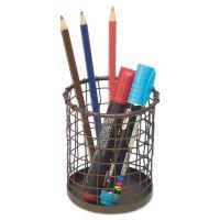 """Universal Vintage Wire Mesh Pencil Cup, 3 3/8""""dia x 4 1/2""""h, Vintage Bronze UNV20063"""