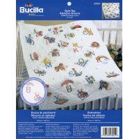 Bucilla Stamped Cross Stitch Baby Quilt Top NOTM256740