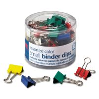"""Officemate Binder Clips, Metal, 3/4"""", Assorted Colors, 36/Pack OIC31028"""