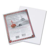 Pacon Riverside Construction Paper, 76 lbs., 9 x 12, White, 50 Sheets/Pack PAC103589