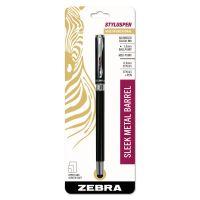Zebra StylusPen Capped Ballpoint Pen/Stylus, Black ZEB33211