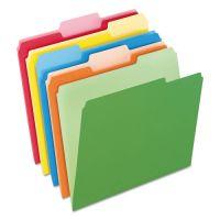 Pendaflex Colored File Folders, 1/3 Cut Top Tab, Letter, Assorted Colors, 100/Box PFX15213ASST