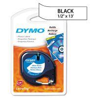 "DYMO LetraTag Plastic Label Tape Cassette, 1/2"" x 13ft, White DYM91331"