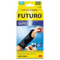 """FUTURO Adjustable Reversible Splint Wrist Brace, Fits Wrists 5 1/2""""- 8 1/2"""", Black MMM10770EN"""