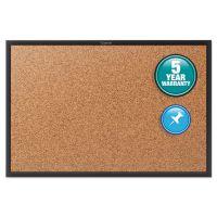 Quartet Classic Series Cork Bulletin Board, 24x18, Black Aluminum Frame QRT2301B