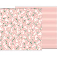"""Night Night Baby Girl Double-Sided Cardstock 12""""X12"""" NOTM338320"""
