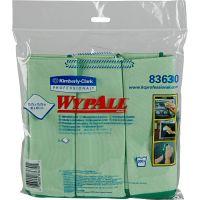 WypAll* Microfiber Cloths, Reusable, 15 3/4 x 15 3/4, Green, 6/Pack KCC83630