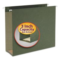 Smead Three Inch Capacity Box Bottom Hanging File Folders, Letter, Green, 25/Box SMD64279