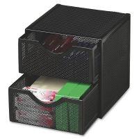Rolodex Expressions Mesh Drawers Cube ROL9E5600BLA