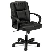HON VL171 Series Executive Mid-Back Chair, Black Leather BSXVL171SB11