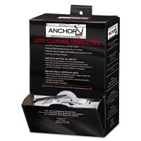 "Anchor Brand Lens Cleaning Towelettes, 5 in x 8"", White, 100/Box ANR70AB"