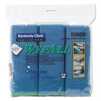 WypAll* Microfiber Cloths, Reusable, 15 3/4 x 15 3/4, Blue, 6/Pack KCC83620