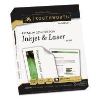 Southworth Premium 25% Cotton Paper, 97 Brightness, 24 lb, 8 1/2 x 11, Wicked White, 250 Sheets/Ream SOUJ344C