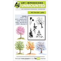 """Art Impressions Watercolor Cling Rubber Stamps 4""""X7"""" NOTM043716"""