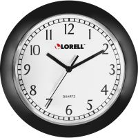 "Lorell 9"" Round Profile Wall Clock LLR60987"