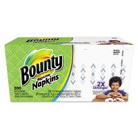Bounty Quilted Napkins, 1-Ply, 12 1/10 x 12, Prints, 200/Pack PGC34885