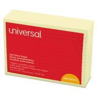 Universal Self-Stick Note Pads, Lined, 4 x 6, Yellow, 100-Sheet, 12/Pack UNV35673