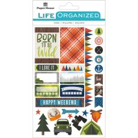 "Paper House Life Organized Planner Stickers 4.5""X7.5"" NOTM529169"