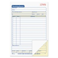 TOPS Receiving Record Book, 5 9/16 x 7 15/16, Two-Part Carbonless, 50 Sets/Book TOP46259