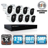 Night Owl 8 Channel Extreme HD Video Security DVR, 5MP Resolution NGTXHD50288PB