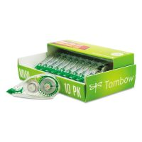"Tombow MONO Mini Correction Tape, 1/6"" x 315"", Non-Refillable, 10/Pack TOM68722"