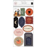 Spellcast Reuseable Vinyl Cling Labels 19/Pkg NOTM036552