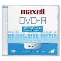 Maxell DVD-R Disc, 4.7GB, 16x MAX638000