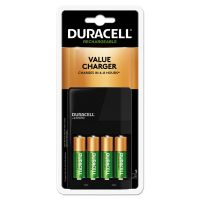 Duracell ION SPEED 1000 Advanced Charger, Includes 4 AA NiMH Batteries DURCEF14