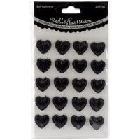 Bella! Wedding Self-Adhesive Hearts 20/Pkg NOTM298340