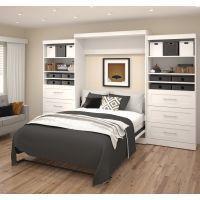 "Bestar Pur by Bestar 136"" Queen Wall bed kit in White BESBES2688617"
